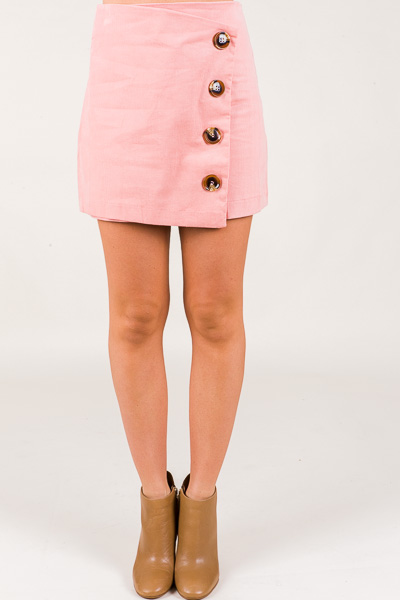 Button Up Skirt, Pink