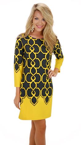 Looking Glass Dress, Yellow
