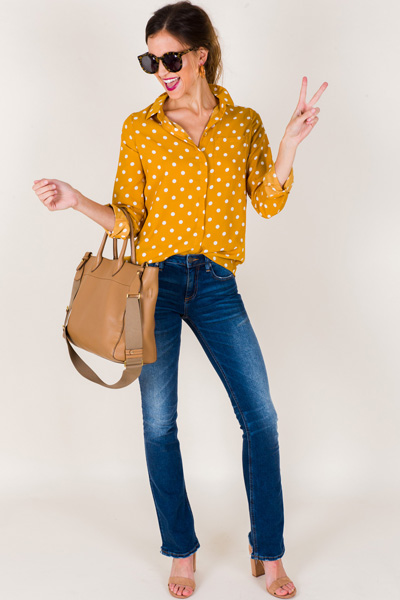 Dotted Muse Blouse, Golden