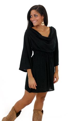 Fancy Free Sweater Dress, Black