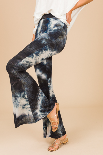 Ribbed Knit Flares, Tie Dye
