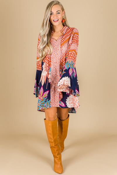 Perry Paisley Tunic Dress