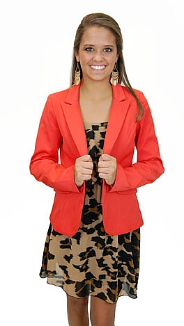 Blaze Of Glory Blazer, Orange