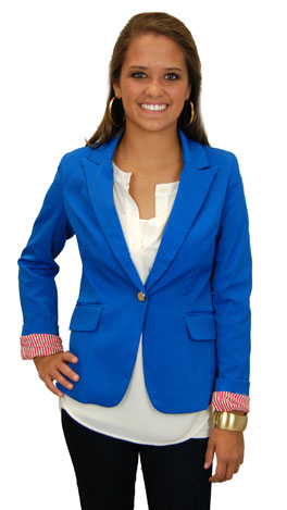 Blaze Of Glory Blazer, Blue