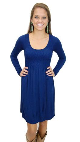 So Soft LS Dress Blue Depths