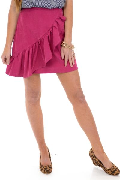 Flirt with Fuchsia Skirt