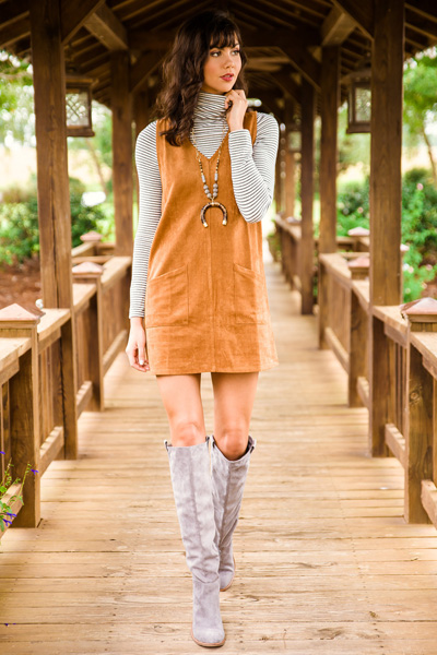 Corduroy Pocket Dress