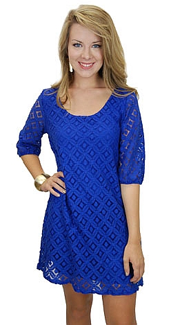I State My Lace Dress, Blue