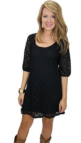 I State My Lace Dress, Black