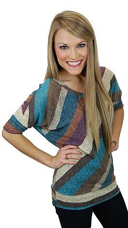 Heather Stripes Top