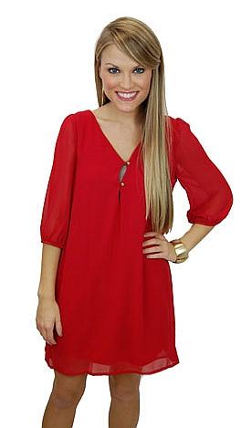 Morgan Dress, Red
