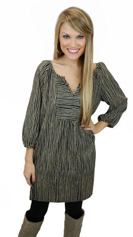 Ups & Downs Dress, Black
