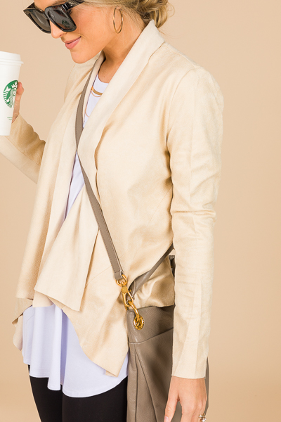 Adeline Suede Jacket, Beige