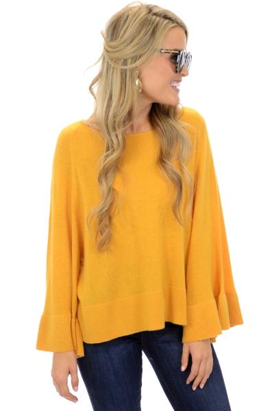 Box Sleeve Sweater, Mustard