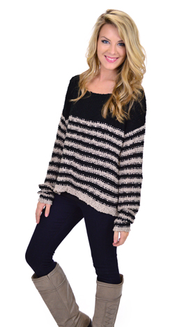 Go The Extra Mile Sweater, Blk