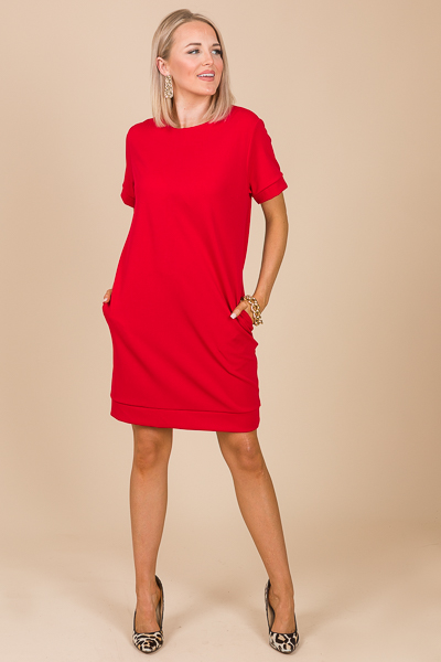 Banded Stretch Shift, Red