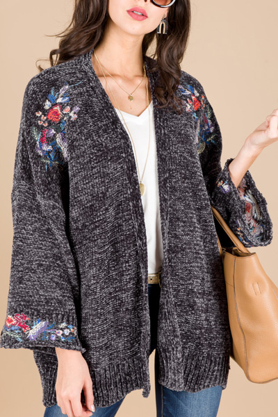 Embroidered Chenille Jacket