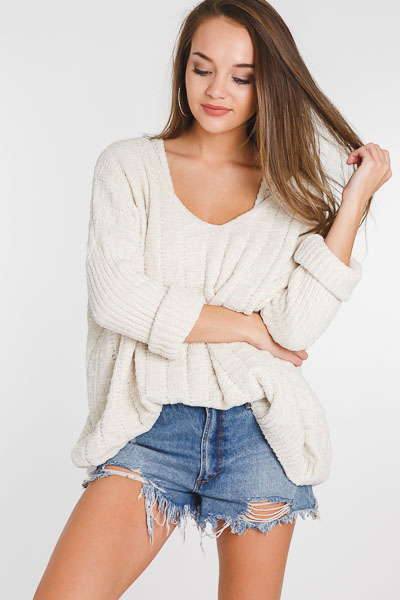 Cozy Chenille V Sweater