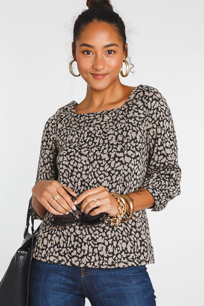 Cheetah Square Neck Top