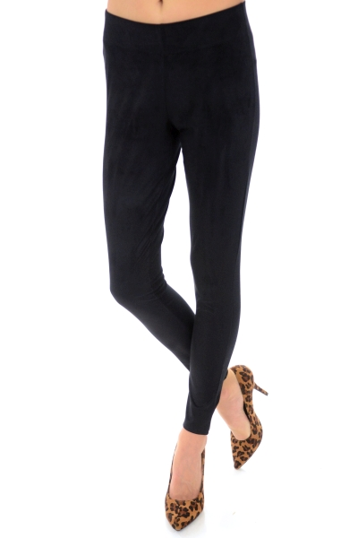Cooper Suede Leggings, Black