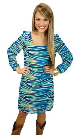 Wishful Thinking Dress, Blue