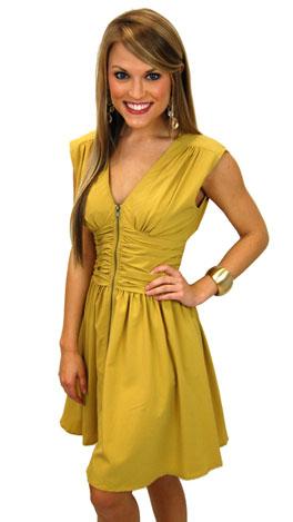 Cumberland Dress, Mustard