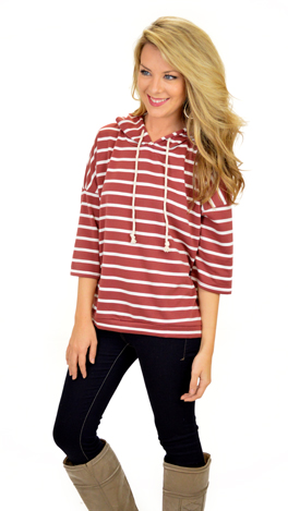 Deck Hand Hoodie, Red