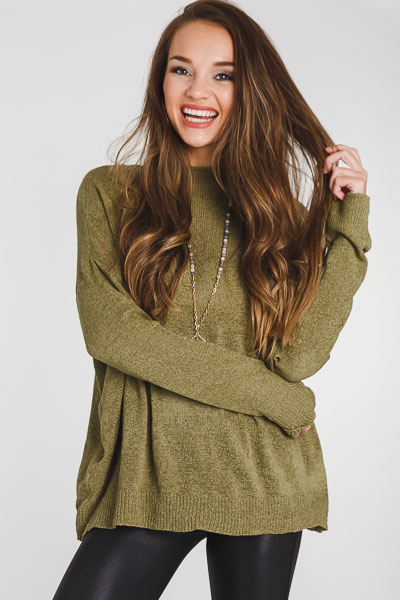 Carolyn Sweater, Olive