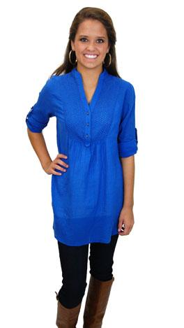 Siddartha Tunic, Blue