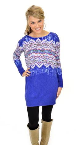 Natural Wonders Sweater, Blue