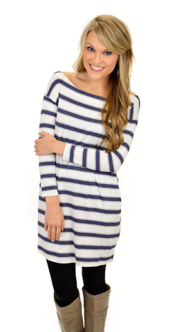 One Liner Tunic, Blue