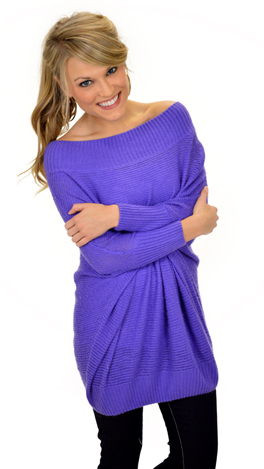 Snuggle Me Sweater, Purple