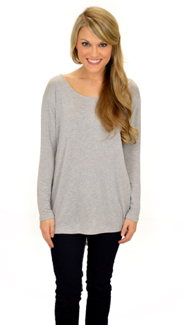 Angled Pocket Tee, Gray