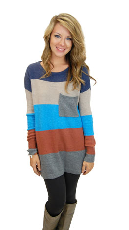 Cinnamon Spice It Up Sweater, Blue