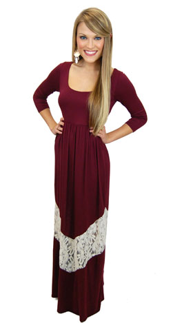Turn Back Time Maxi, Burgundy