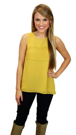 Bands of Sisters Tank, Yellow