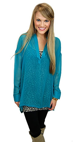 The Katie Tunic, Teal