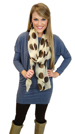 French Terry Tunic, Blue