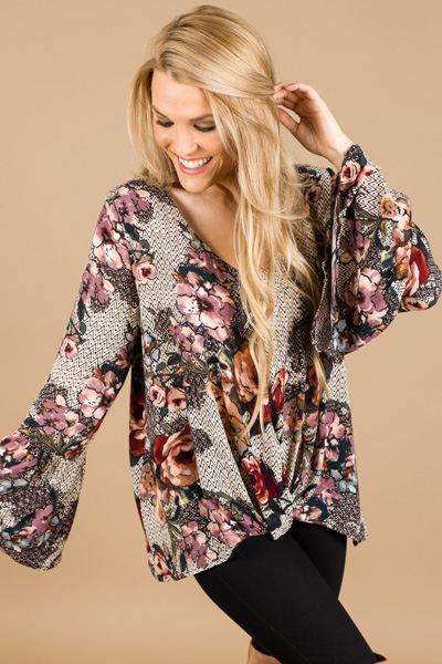 Abstract Roses Top
