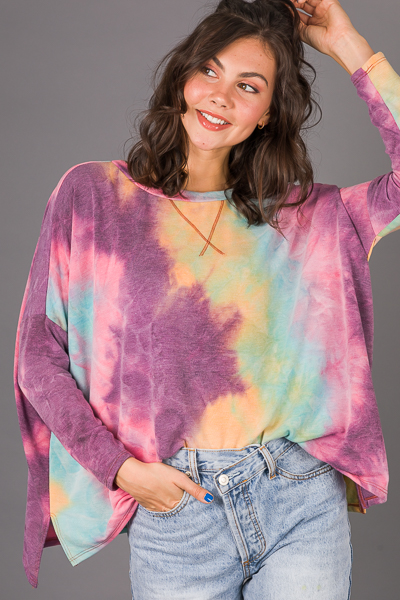 Boxy Tie Dyed Pullover