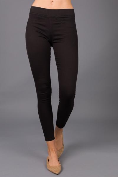 Elyse Denim Leggings, Black