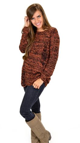 Keep It Casual Sweater, Rust