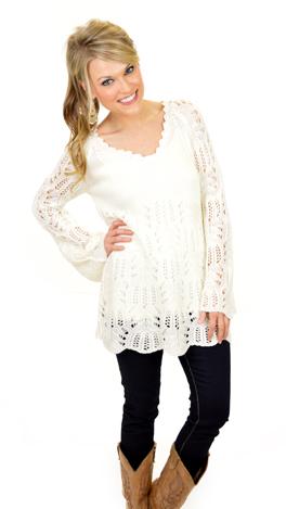 Heaven Sent Sweater, Ivory