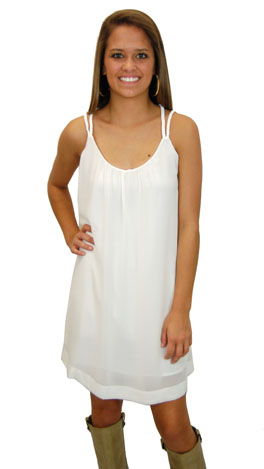 Firm Foundation Frock, White