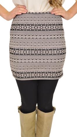 Short and Sweet Skirt, Ivory