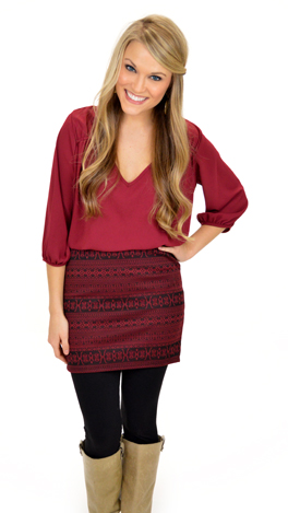 Short and Sweet Skirt, Wine