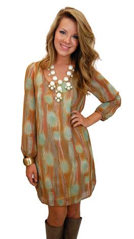 Sponge Paint Dress
