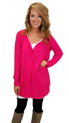 Simply Scrumptious Tunic, Pink