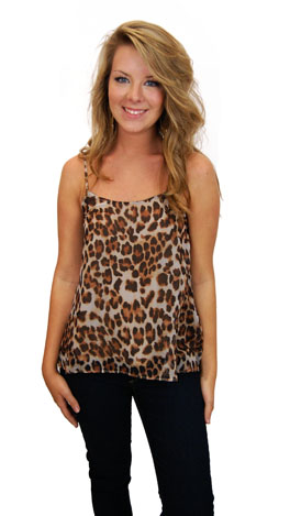 Leopard Layering Cami