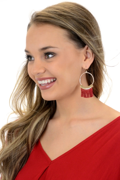 Friday Night Tassel Ear, Burgundy